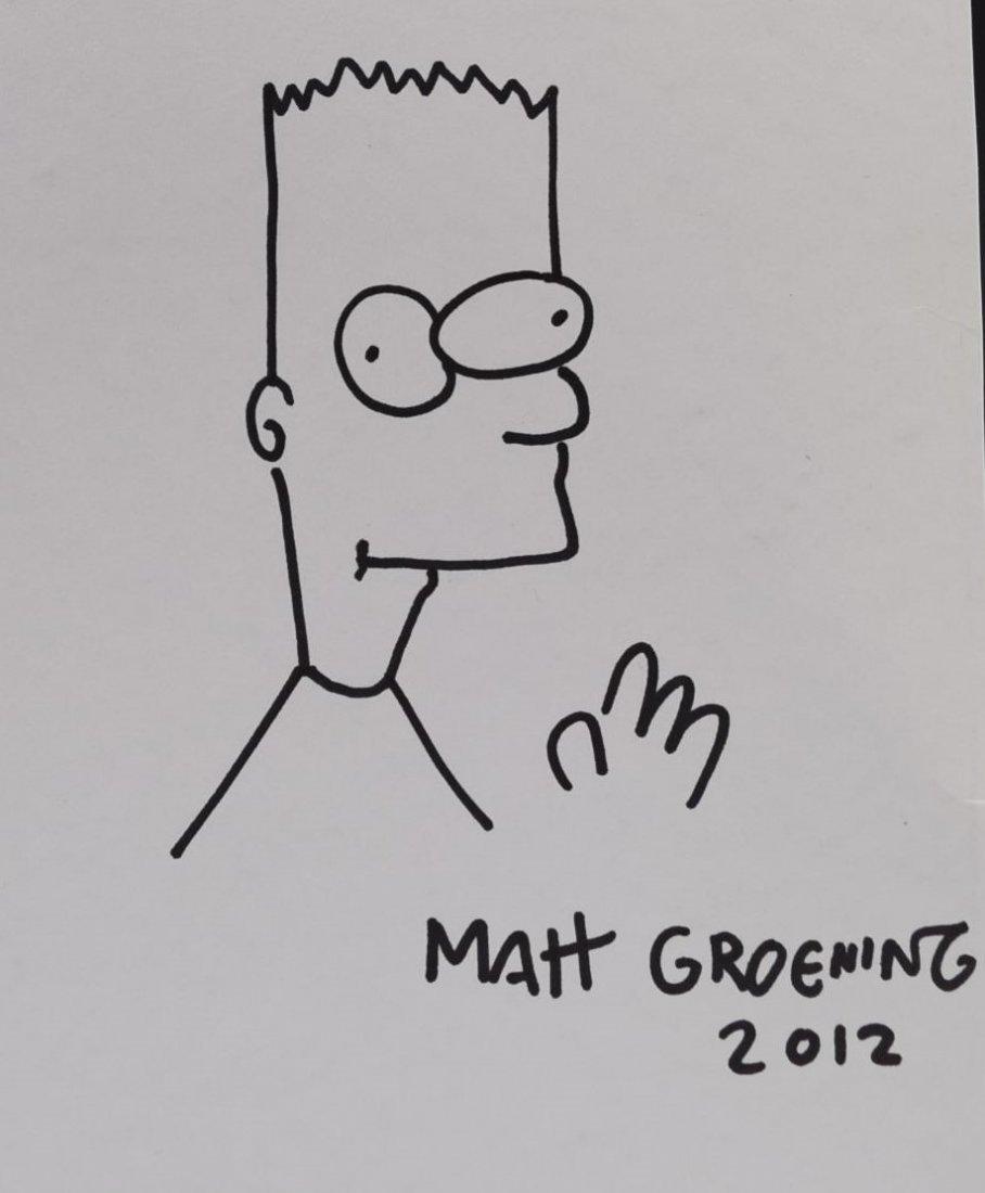 Matt Groening Drawing Signed - 2