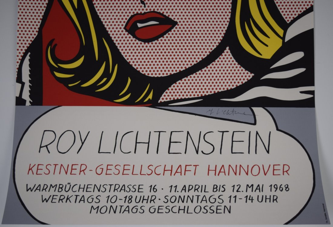 Roy Lichtenstein Signed Poster - 3