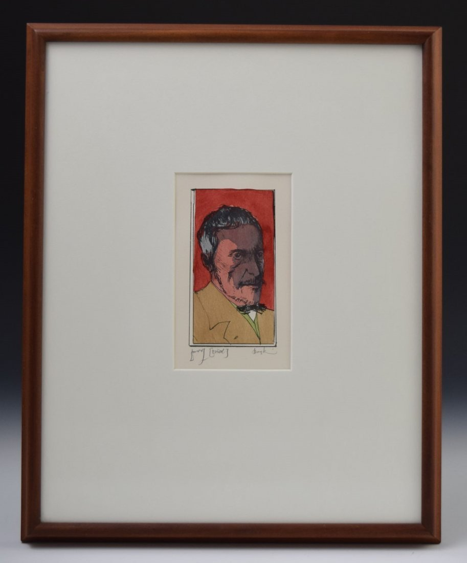 Leonard Baskin Signed Etching