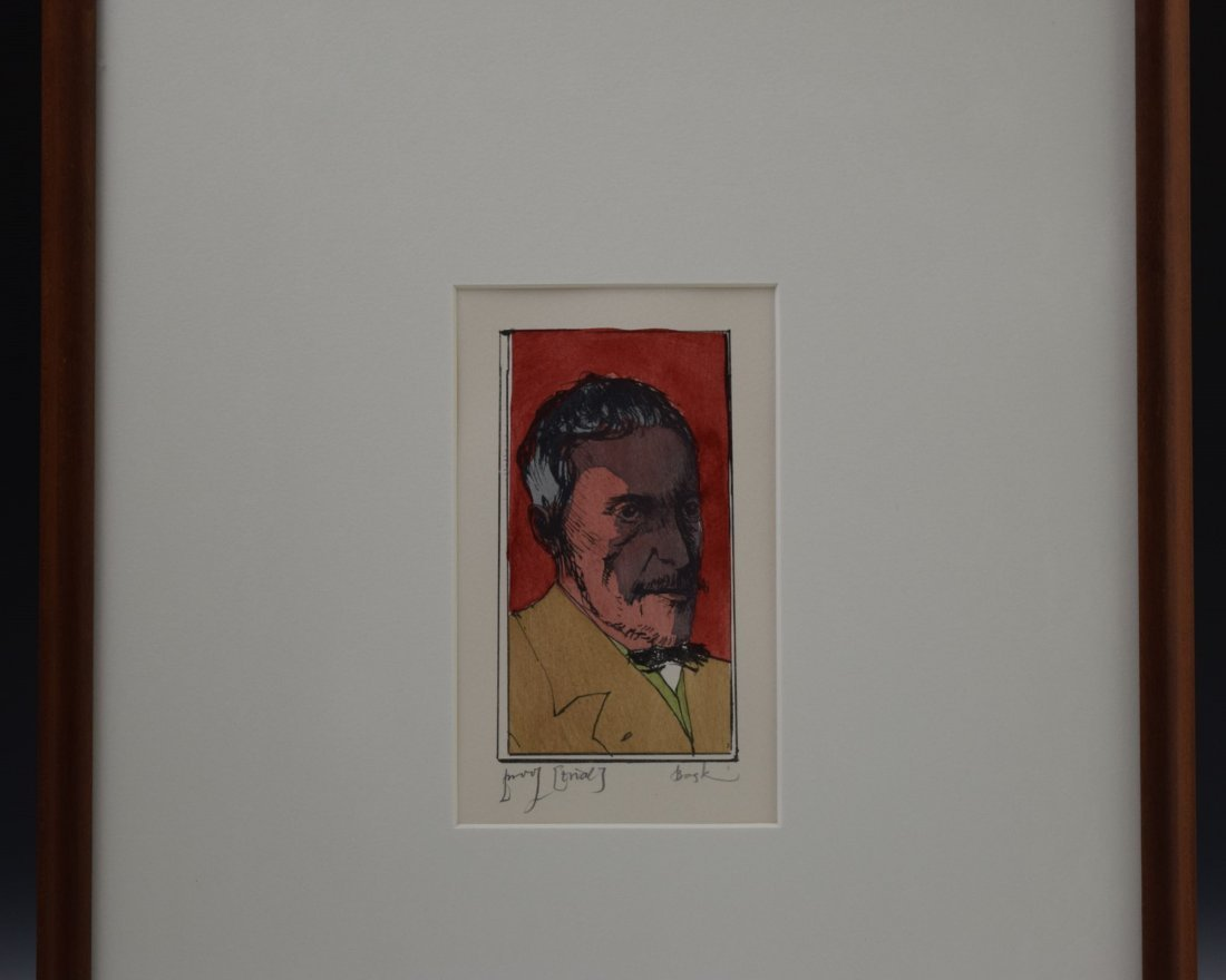 Leonard Baskin Signed Etching - 2