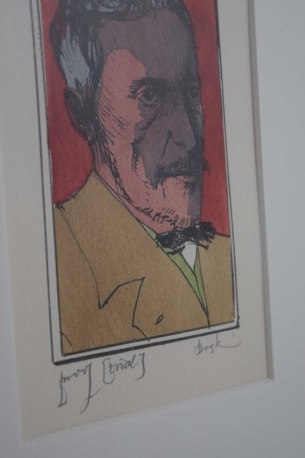 Leonard Baskin Signed Etching - 3