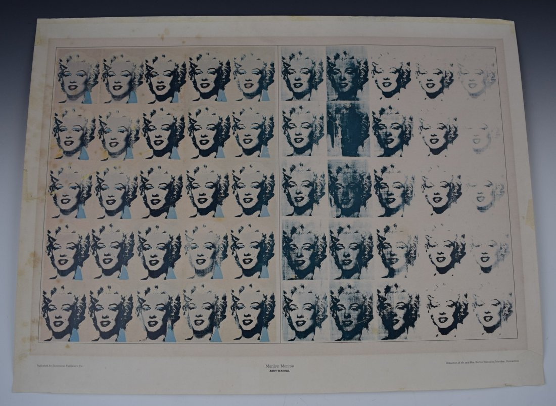 1960's Andy Warhol Marilyn Poster