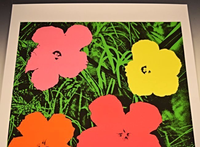 Andy Warhol Signed Flowers Poster - 2