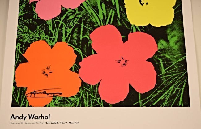 Andy Warhol Signed Flowers Poster - 3
