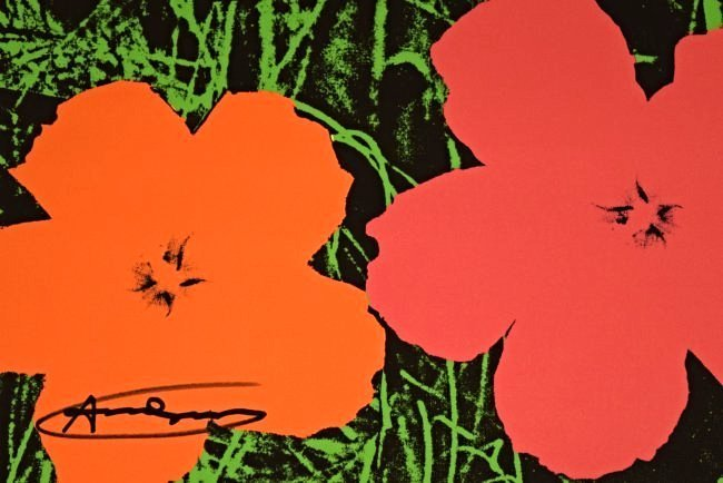 Andy Warhol Signed Flowers Poster - 4