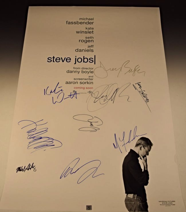 Steve Jobs Cast Signed Movie Poster