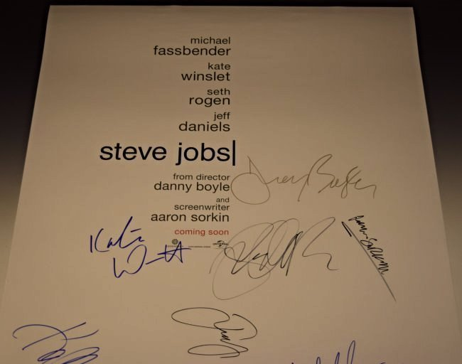 Steve Jobs Cast Signed Movie Poster - 2