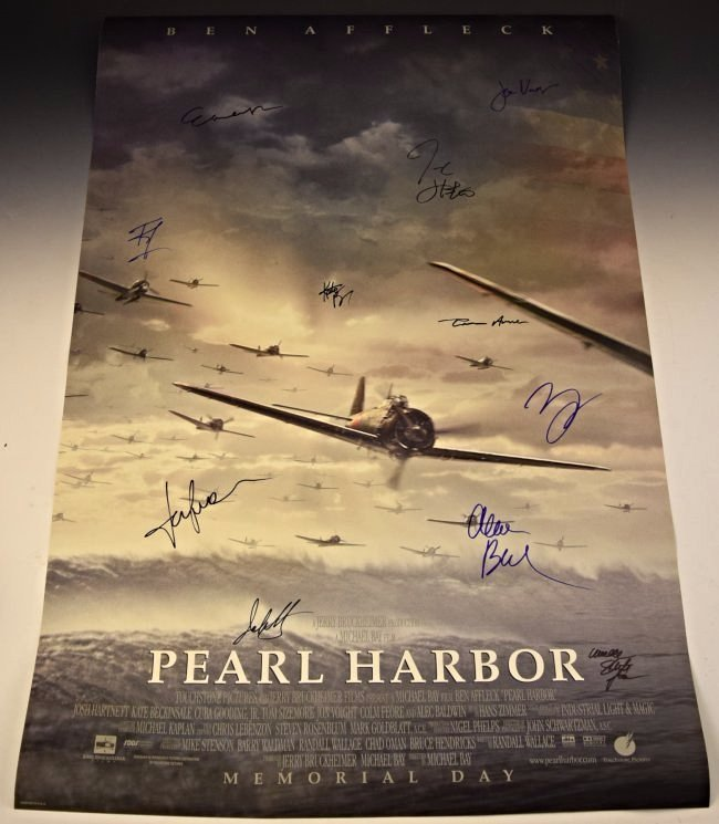 Pearl Harbor Cast Signed Poster
