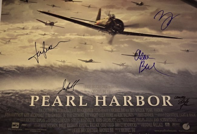 Pearl Harbor Cast Signed Poster - 4