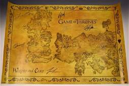 Game Of Thrones Cast Signed Movie Poster