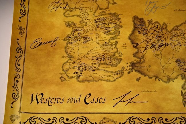 Game Of Thrones Cast Signed Movie Poster - 2