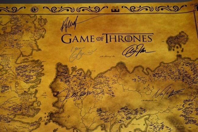 Game Of Thrones Cast Signed Movie Poster - 3