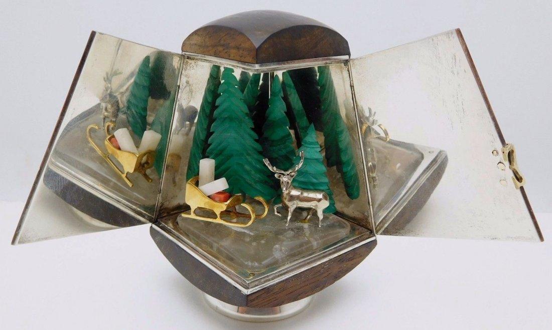 Cartier Sterling Silver/18K Gold Christmas Fantasy Box