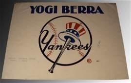 Yogi Berra Signed Yankees Poster