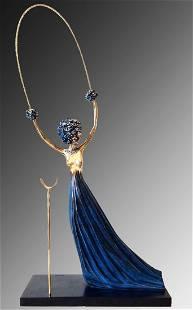 Salvador Dali Bronze Sculpture, Alice in Wonderland