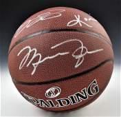 Lebron Jordan Bryant Signed Basketball