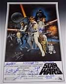Star Wars Cast Signed Poster