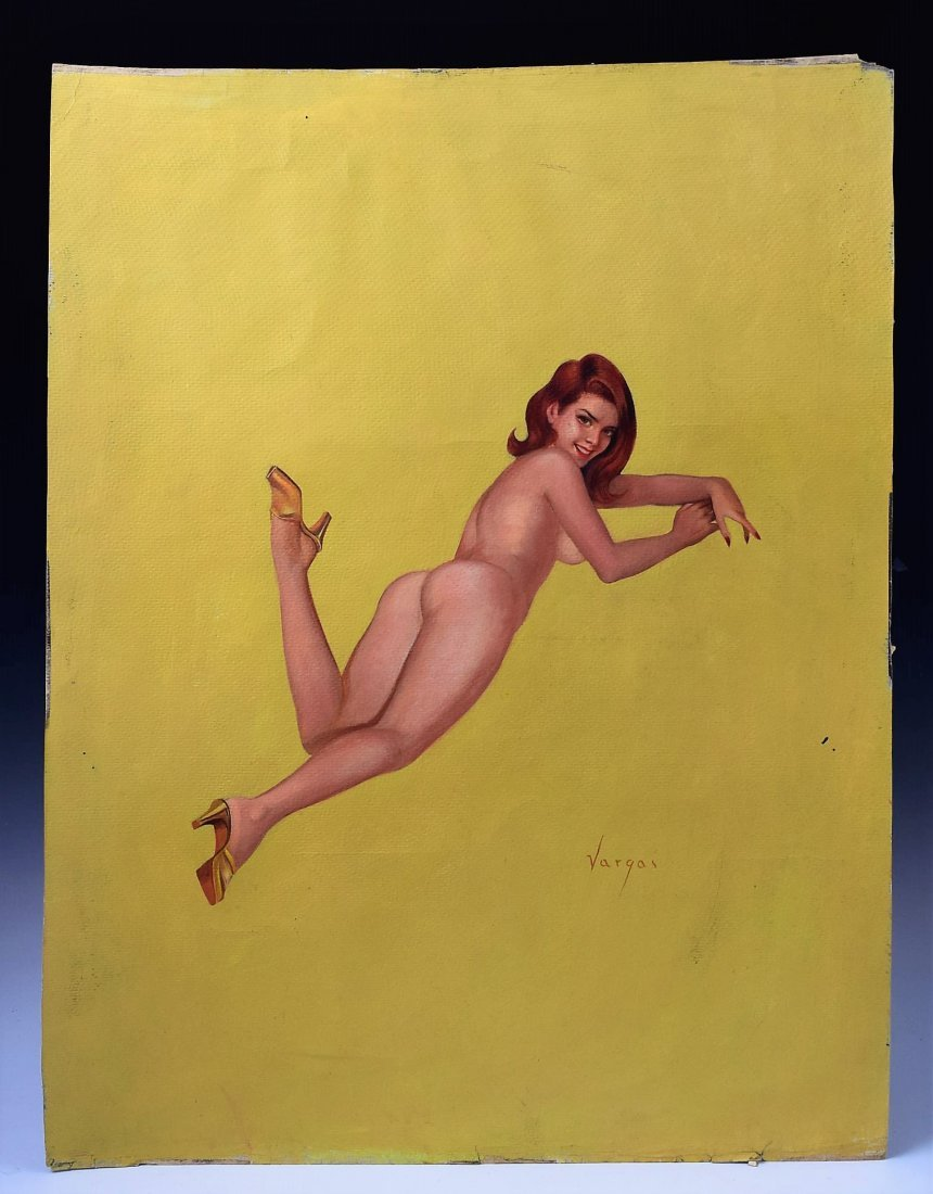 Alberto Vargas Pin Up Painting