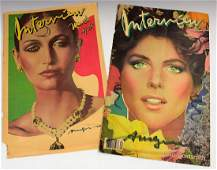 Andy Warhol Signed Interview Magazine Covers