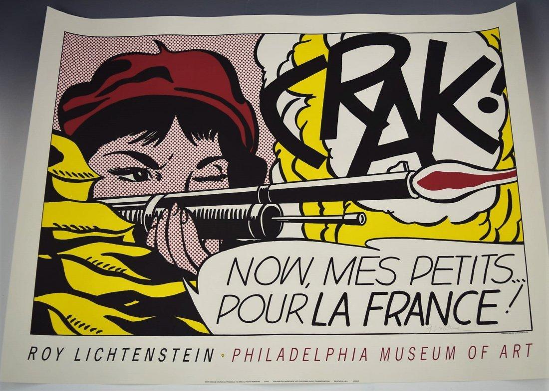 Roy Lichtenstein Signed CRAK!