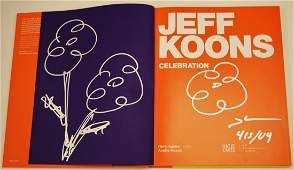 Jeff Koons Signed Book wDrawings