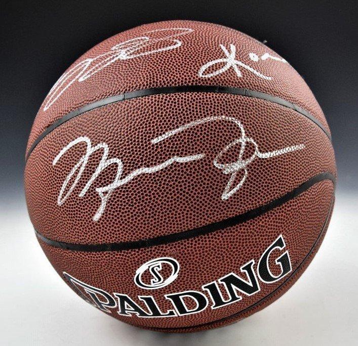 Lebron, Jordan, Bryant Signed Basketball