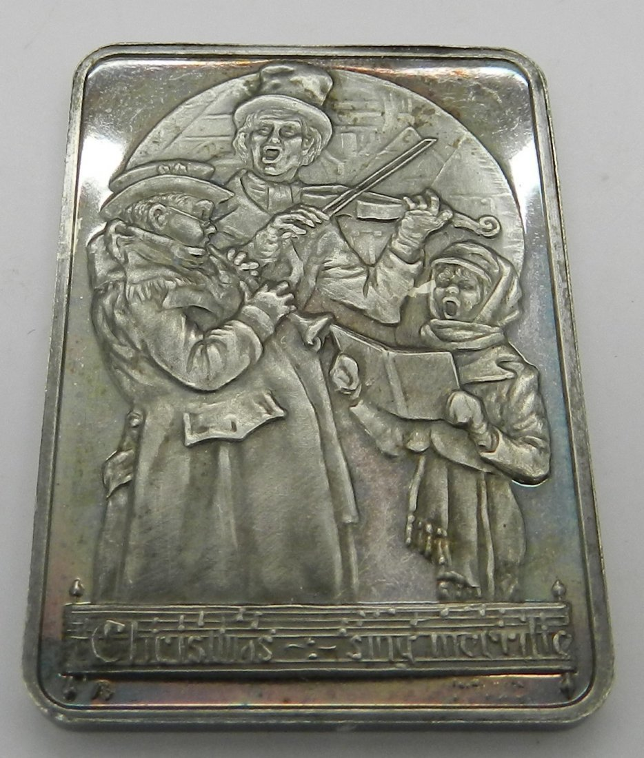 Norman Rockwell Silver Christmas Plaque