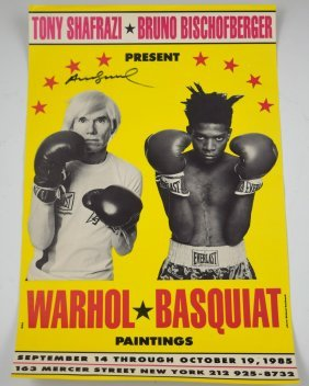Andy Warhol Signed Poster