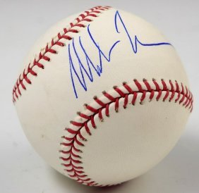 Mike Tyson Signed Baseball