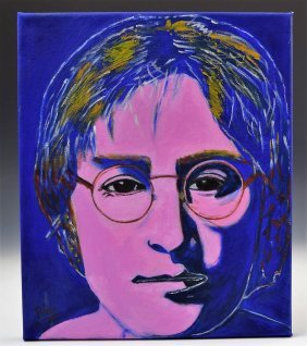 After Andy Warhol Painting, John Lennon