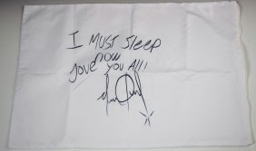 Michael Jackson Signed Pillow Case