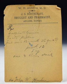 John Wesley Hardin Outlaw Prescription Note