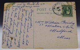 Bat Masterson Family Written Postcards