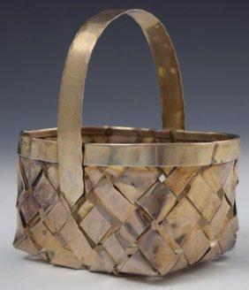 Cartier Sterling Silver Basket