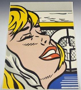 Roy Lichtenstein Signed Shipboard Girl
