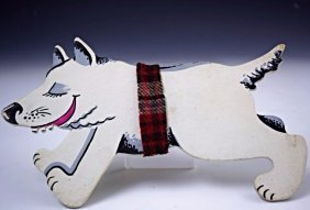 Andy Warhol Signed Dog Cutout