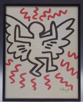 Keith Haring Bayer Lithograph