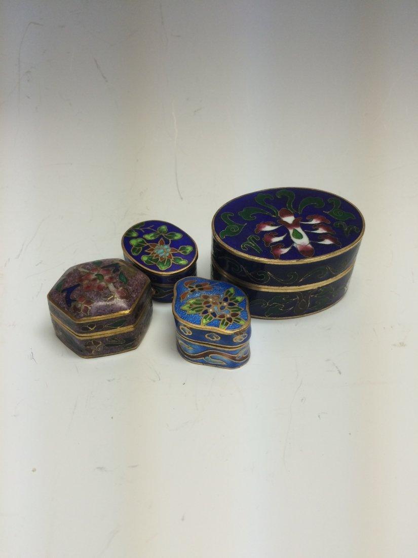 Group of Enamel Boxes