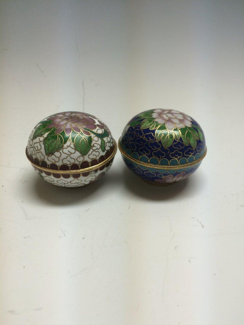 Pair of Enamel Boxes