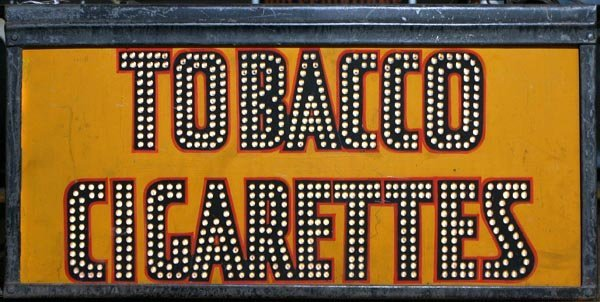 "24: ""Tobacco-Cigarettes""  Outdoor Lighted Sign"