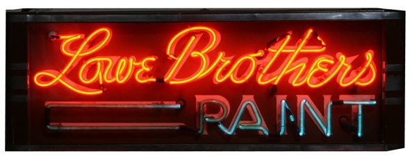 "711: ' Lowe Brothers Paint""  Neon  Sign"
