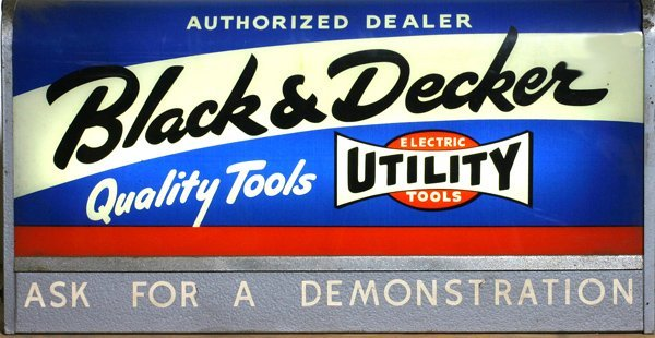 "713:"" Black and Decker""  Tools Lighted Sign"