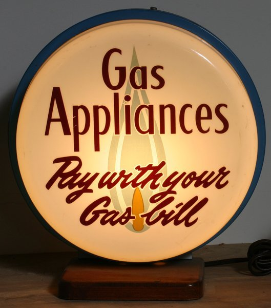 "715:Countertop ""Gas Appliances""  Lighted Sign"