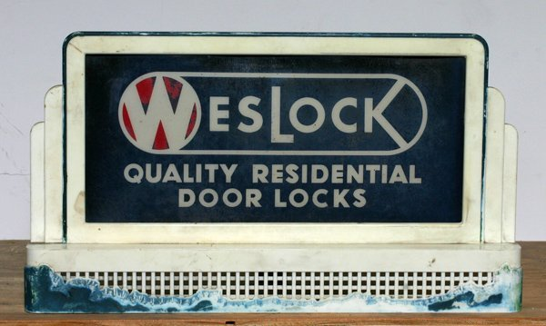 "720:"" Weslock  Locks"" Lighted Countertop Sign"