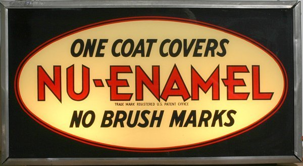 "723:' Nu-Enamel ""Countertop  Lighted Sign"