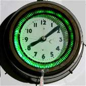 1325: Rare Small Neon Spinner Clock