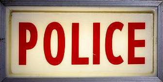 """1436: """"Police"""" Lighted Outrigger Sign"""