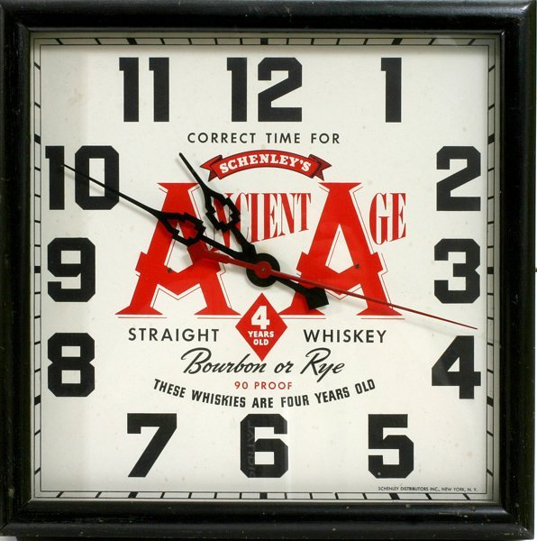 "1500: ""Ancient Age""  Whiskey  Wall Clock"