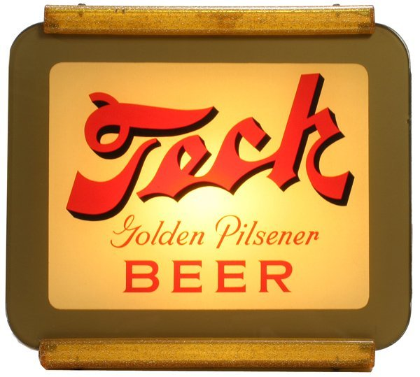 """1502: """"Tech Beer""""  Lighted sign"""