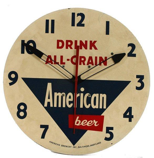 """1505: """"American Beer"""" Clock"""